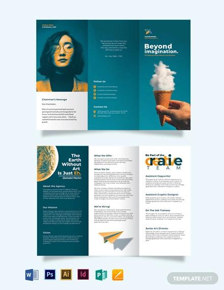 creative company profile tri fold brochure template