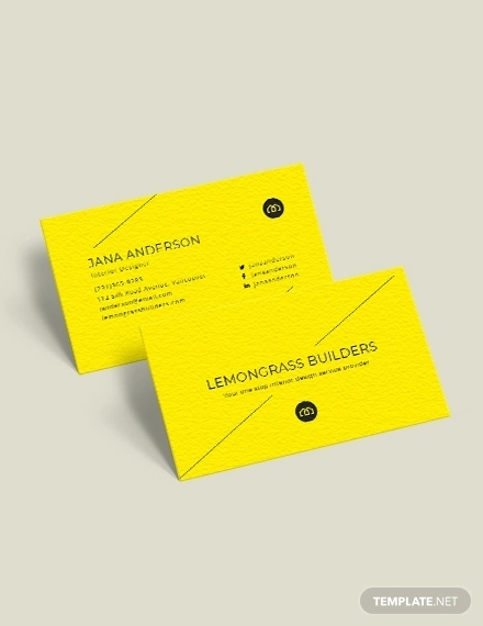 creative interior design business card
