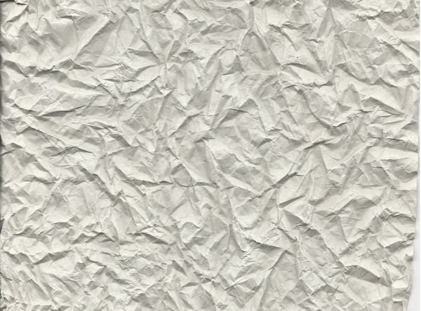Crumpled Blank Paper Texture