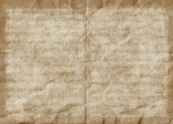 crumpled brown music paper texture