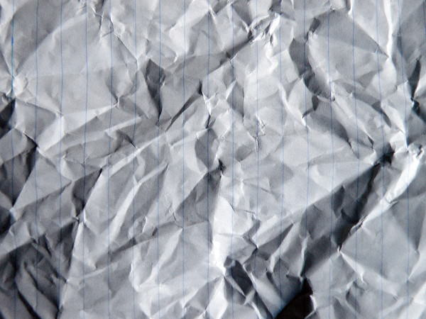 Crumpled Paper Lines Texture