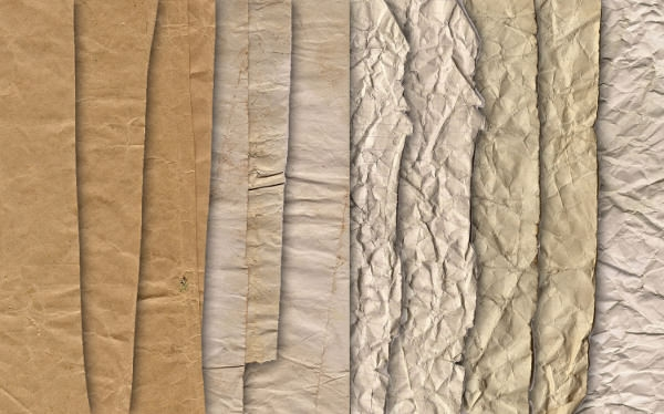 Crumpled Paper Texture Stock