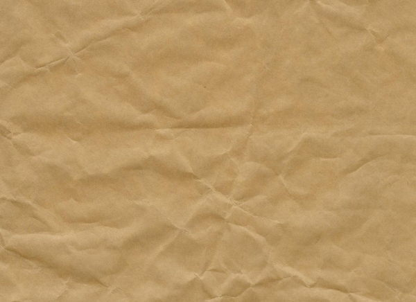 Crumpled and Creased Kraft Paper Texture