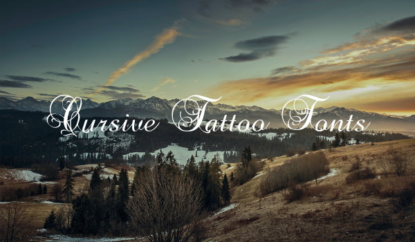 Cursive Tattoo Fonts