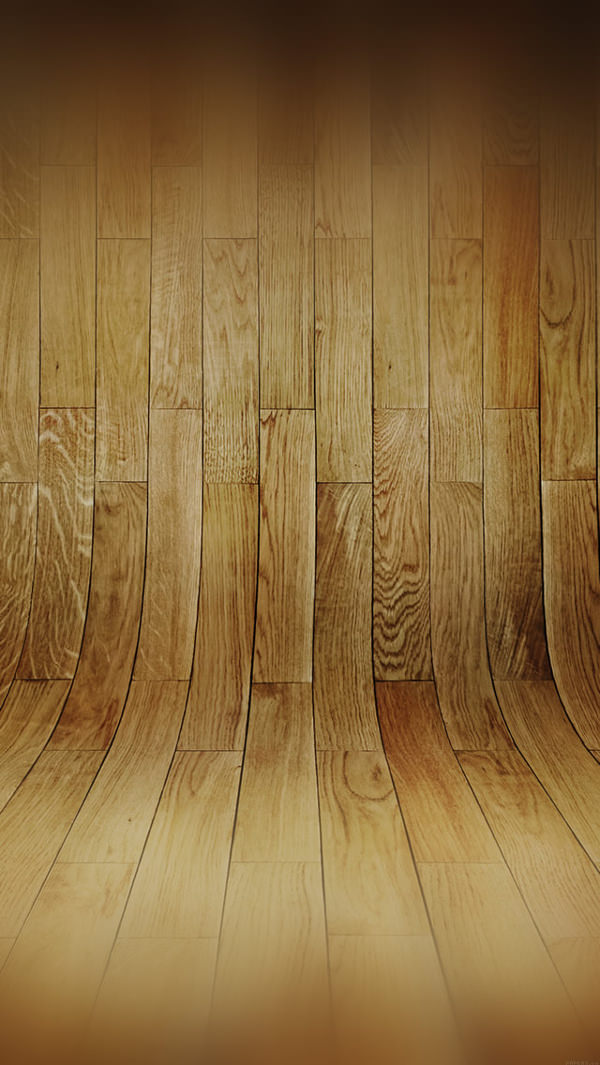 Curved 3D Wood Planks iPhone 5s Background