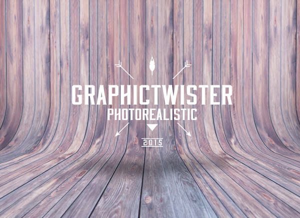 Curved Wooden Background Texture for Logo Design
