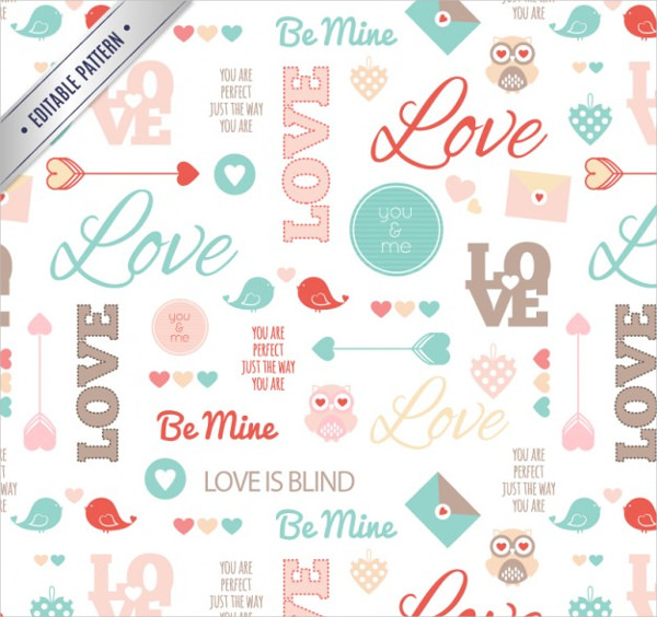 Cute Valentine Pattern Free Download