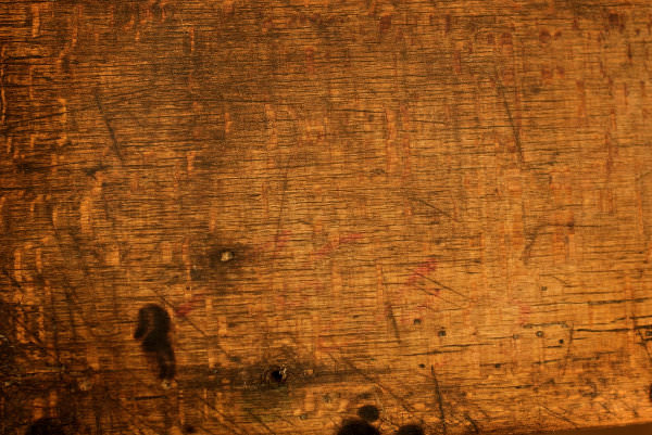 Dark Scarred Wood Texture
