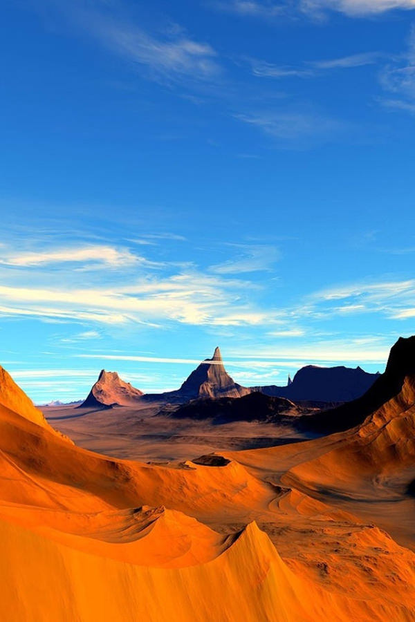 Desert Mountains Iphone 4 Background