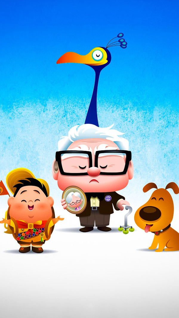 Disney Pixar's Up Background For iPhone 5C