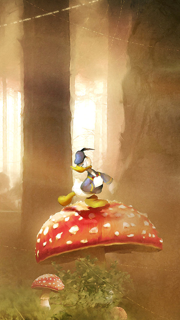 Donald Duck Background for iPhone 5