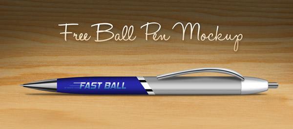 Download Free Ball Pen Mockup