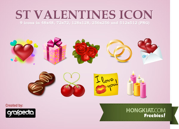 Download Free Valentine Icons