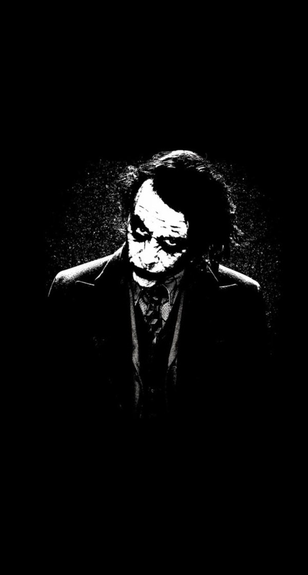 Download The Joker iPhone in Black Background