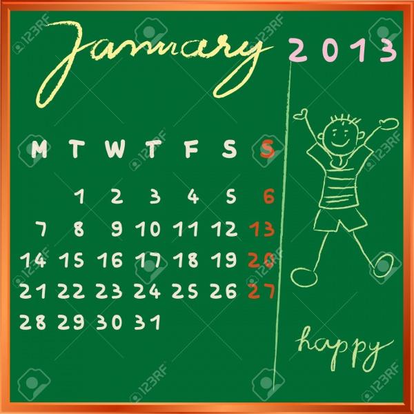 Elegant School Calendar Design