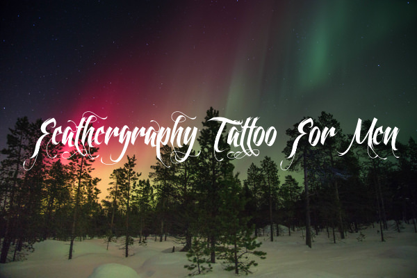 Feathergraphy Tattoo For Men