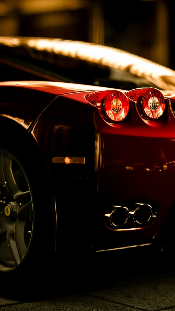 Ferrari Rear Lights View iPhone 5 Background
