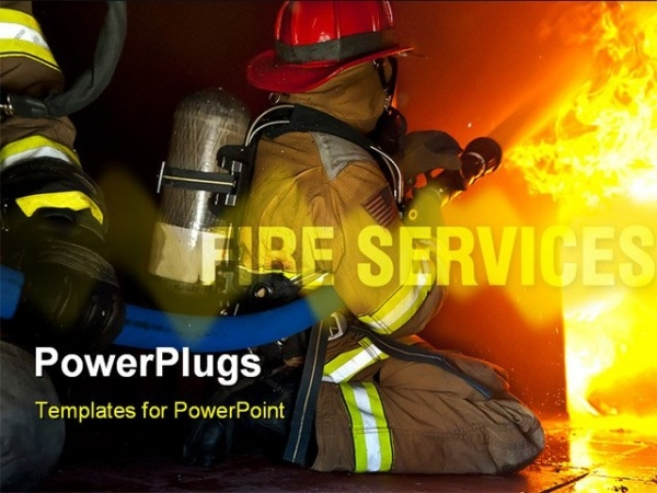 Firefighters Attack PowerPoint Template