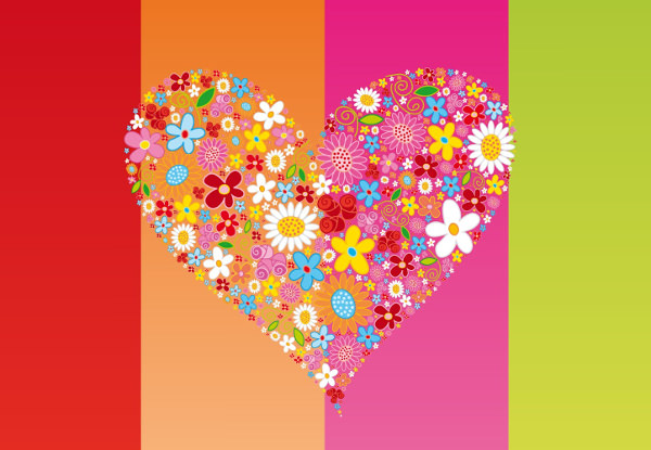 Floral Heart Valentines Day Wallpaper