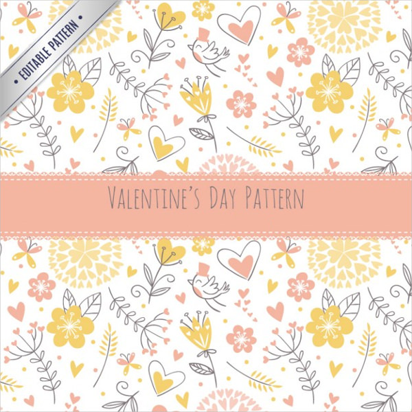 Floral Valentines Day Patter For Free