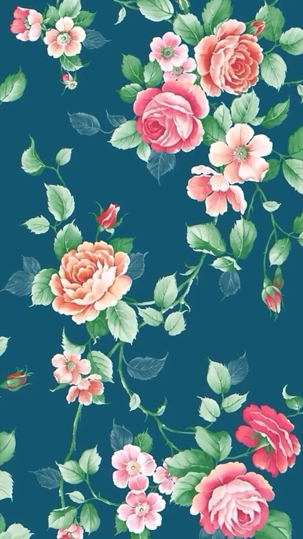 Floral background iPhone 5s Background
