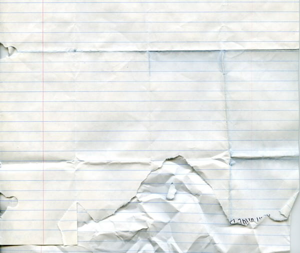 folded and ripped notebook paper texture