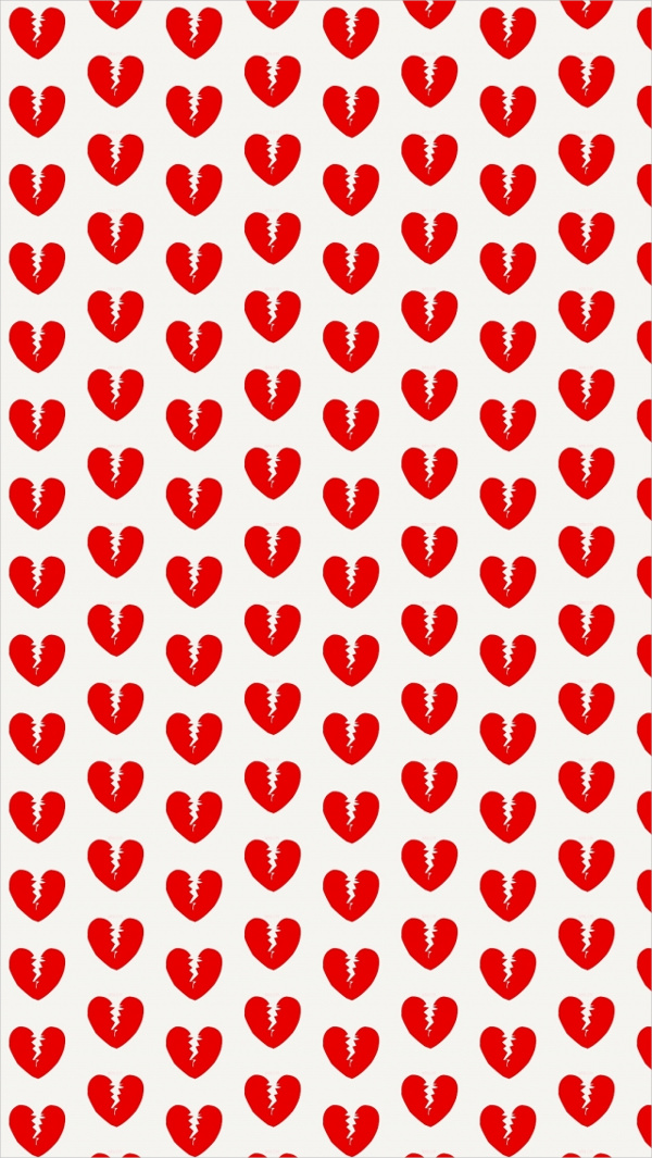 Free Broken Red Heart iPhone Background