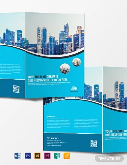 free construction company brochure template