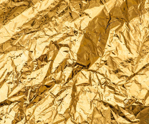 Free Crumpled Metallic Gold Texture