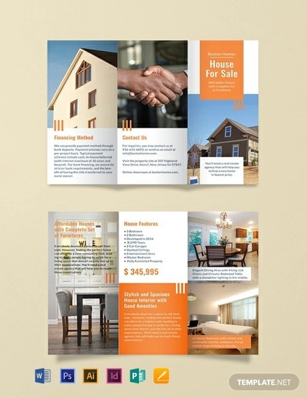 free house for sale brochure template
