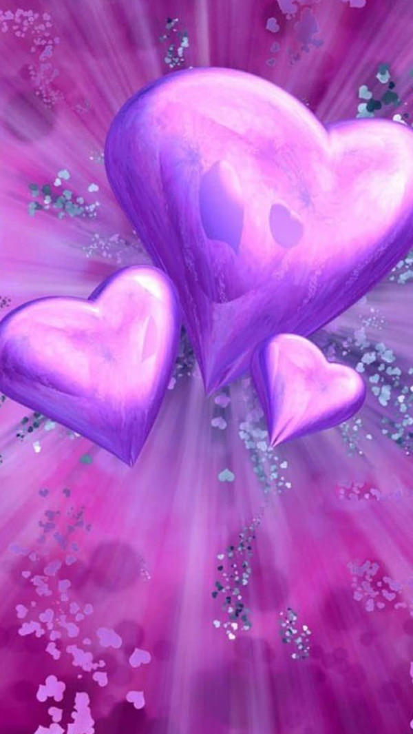 Free Love Shape Purple iPhone Background