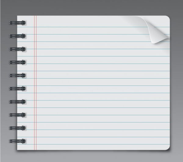 free notebook page vector