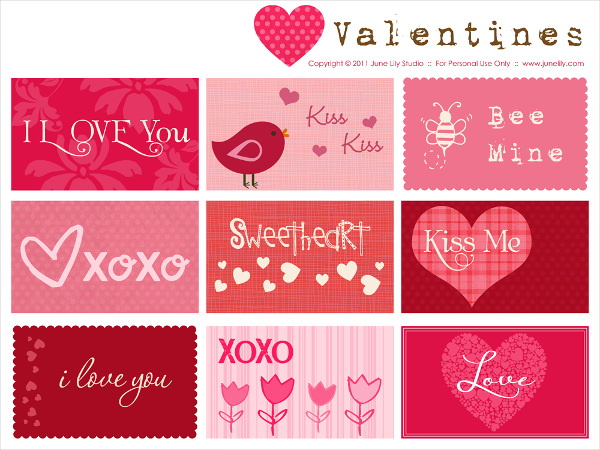 Free Printable Valentines Card Download