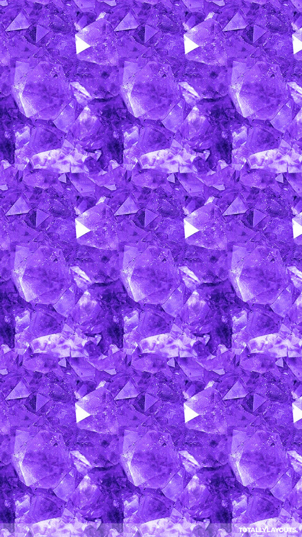 Free Purple Crystal Diamonds iPhone Background