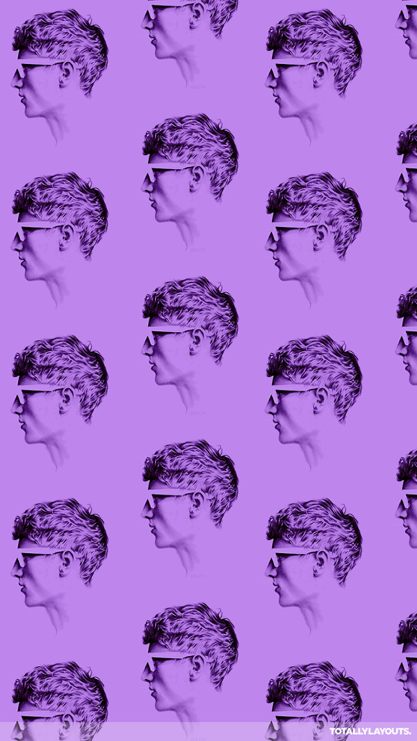 Free Purple Hipster iPhone Background For You
