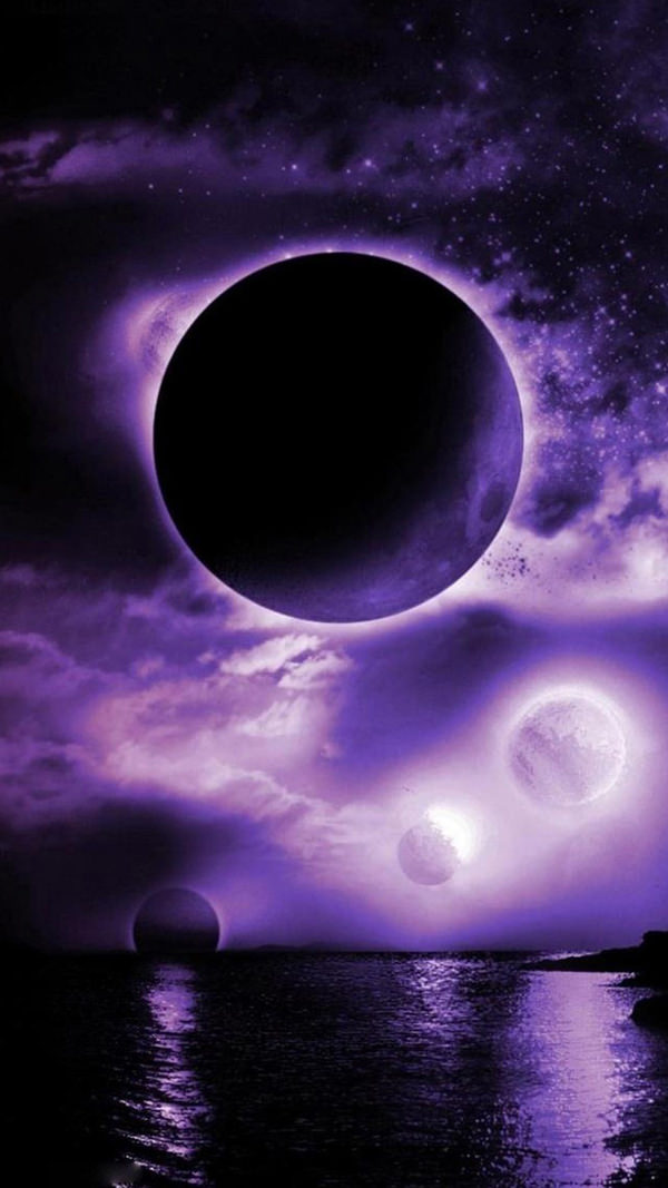 Free Purple Planet iPhone 6 Background
