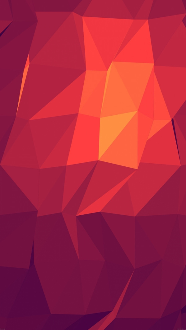 Free Red Light Polygons iPhone Background