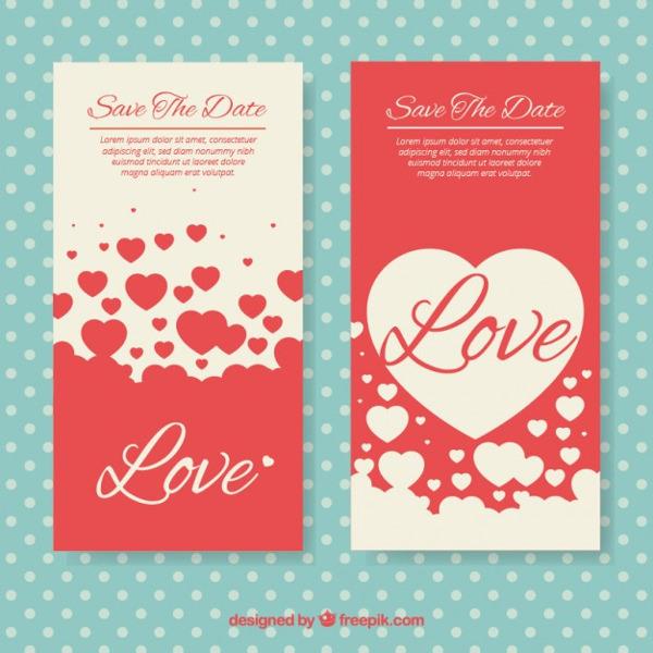 Free Valentine's Day Vertical Banner Download