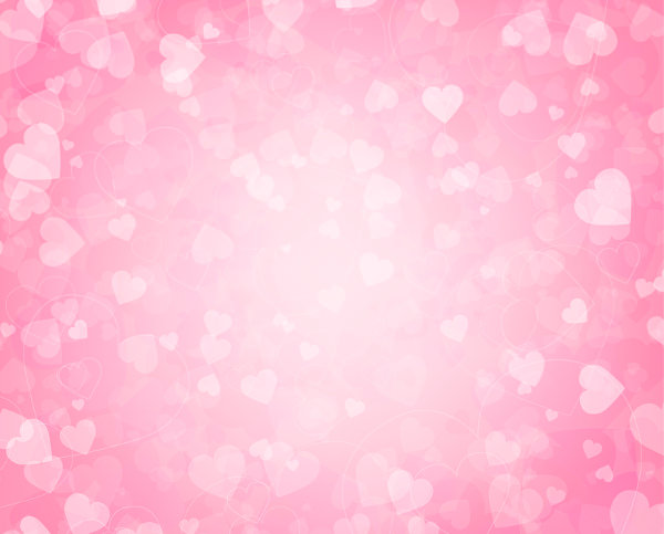 Free Vector Pink Hearts Background