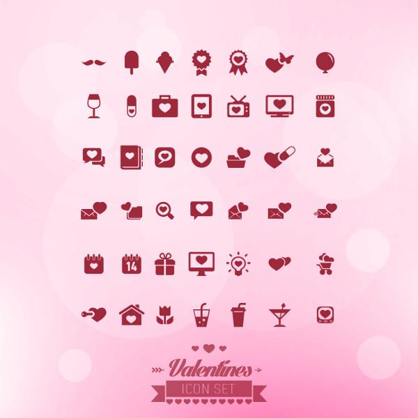 Free Vector Valentine Icons Set