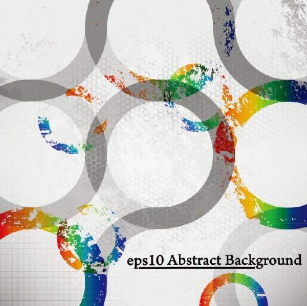 Free Vintage Grunge Round Abstract Background