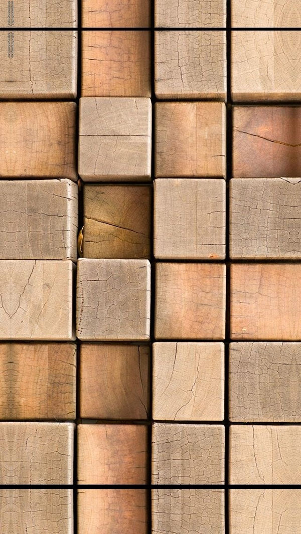 Free Wood Cubes Backgrounds For iPhone