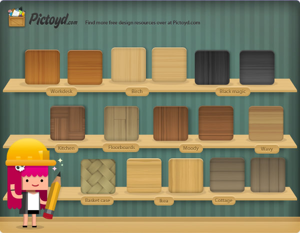 free photoshop wood textures pack
