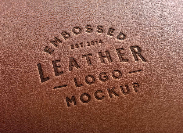 Fully Editable Embossed Stamping Logo Mockup PSD
