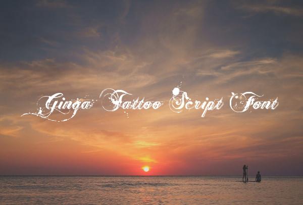 Ginga Tattoo Script Font