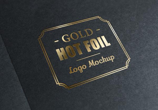 Gold Hot Foil Stamping Logo Mockup