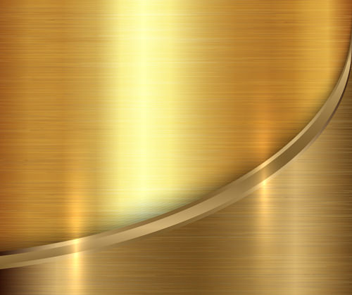 Golden Metal Texture Free Vector Background