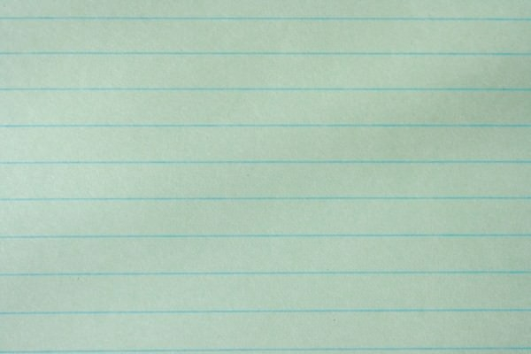 green notebook paper texture