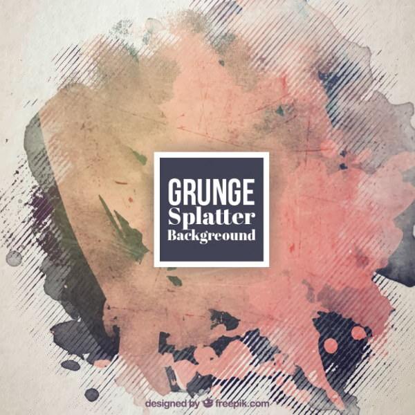 Grunge Splatter Free Vector Background