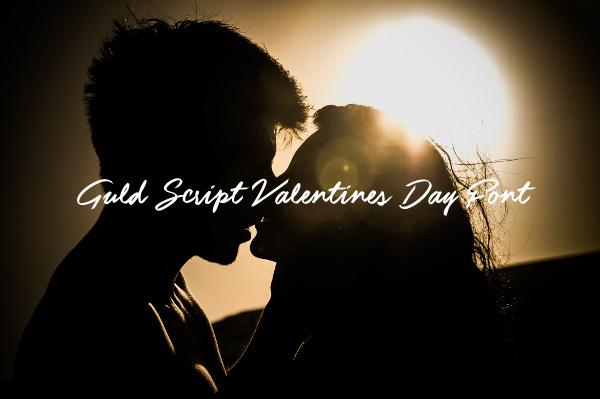 Guld Script Valentines Day Font
